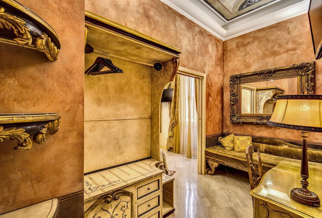 The hotel has rooms ideal for business stays in Rome